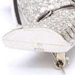 1920s Diamond Horse Head Brooch, marks
