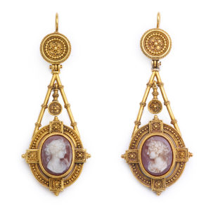 Roman Revival Cameo Earrings
