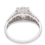back view, Antique Diamond Engagement Ring