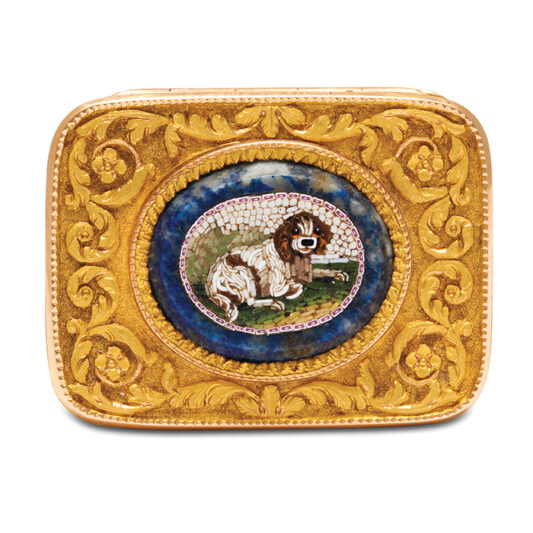 main view, Antique Tiny Gold and Micromosaic Vinaigrette