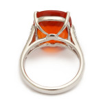 Fire Opal and Diamond Ring, back