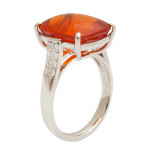 Fire Opal and Diamond Ring, side