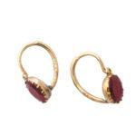 additional stud view, Georgian Garnet Pendant Earrings