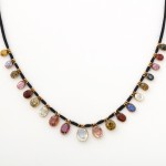 Victorian Multi-gem Drop Necklace