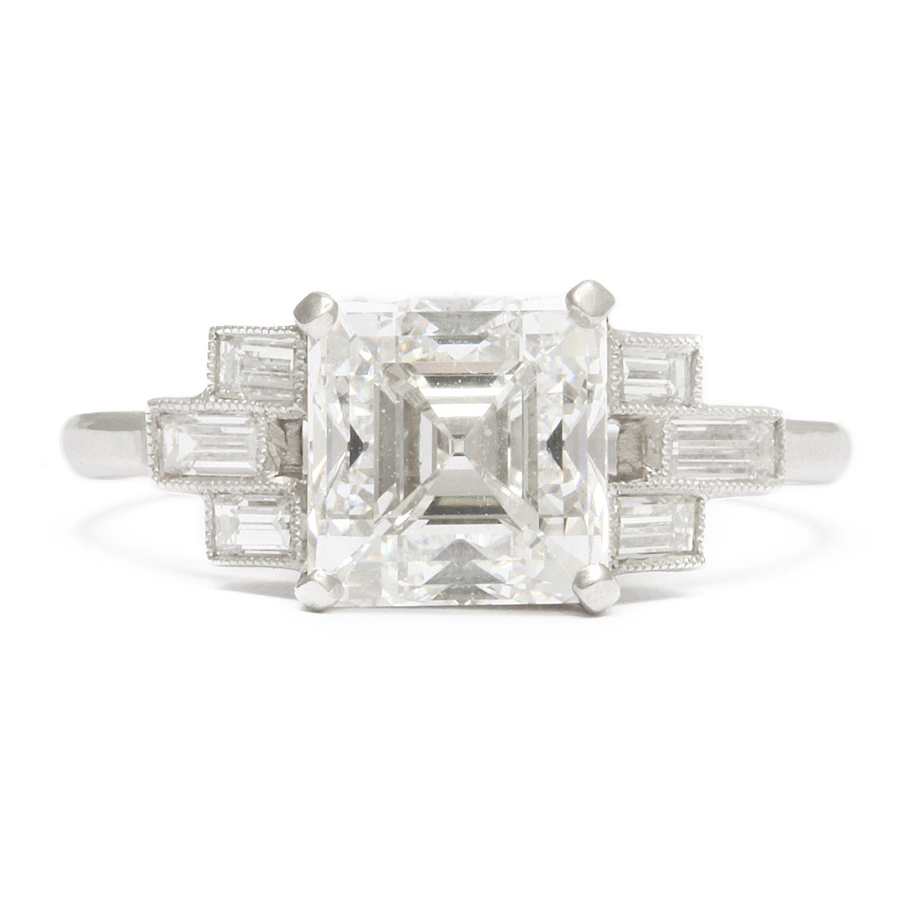 1920s Asscher Diamond Ring
