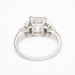 1920s Asscher Diamond Ring, back