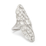 Edwardian Diamond Dinner Ring, a