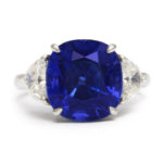 main view, Mid-Century Sapphire and Diamond Ring