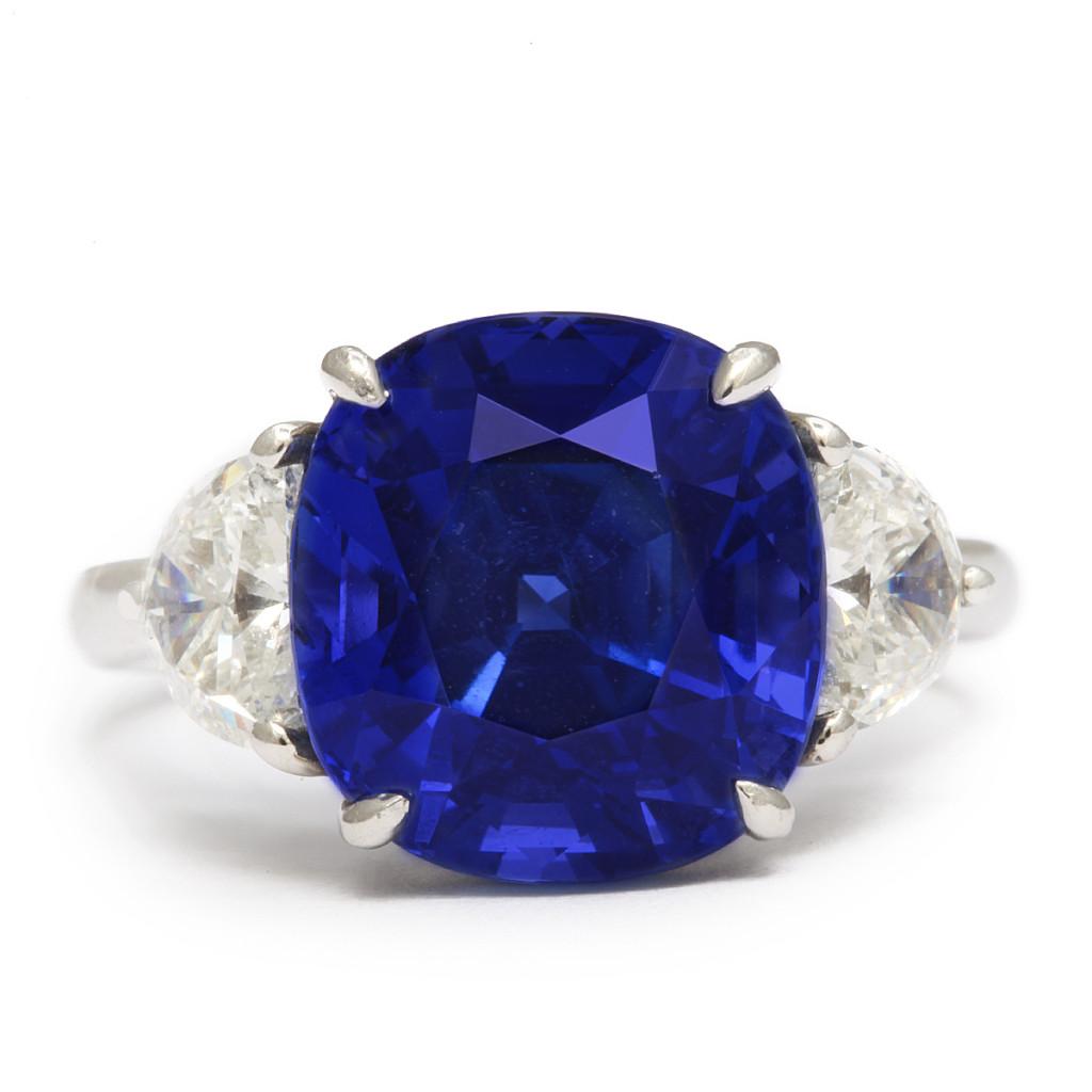 Mid-Century Sapphire and Diamond Ring