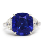Mid-Century Sapphire and Diamond Ring