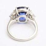 Mid-Century Sapphire and Diamond Ring, back