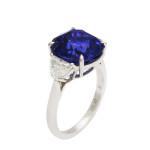 Mid-Century Sapphire and Diamond Ring, c