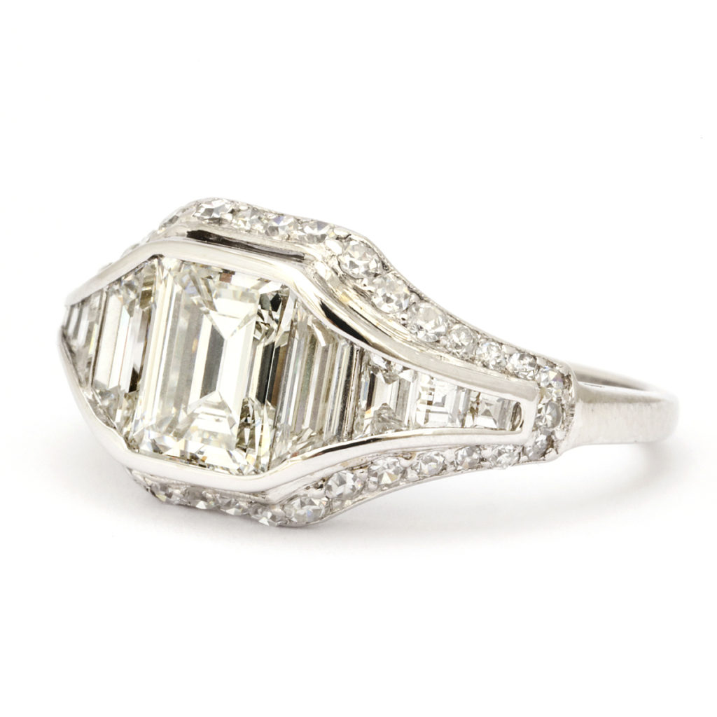 main view, Art Deco Diamond Ring