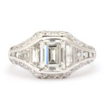 front view, Art Deco Diamond Ring