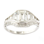 other view, Art Deco Diamond Ring