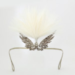 Antique Diamond and Feathered Angel Wing Tiara