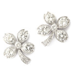 Art Deco Diamond Four-leaf Clover Earrings