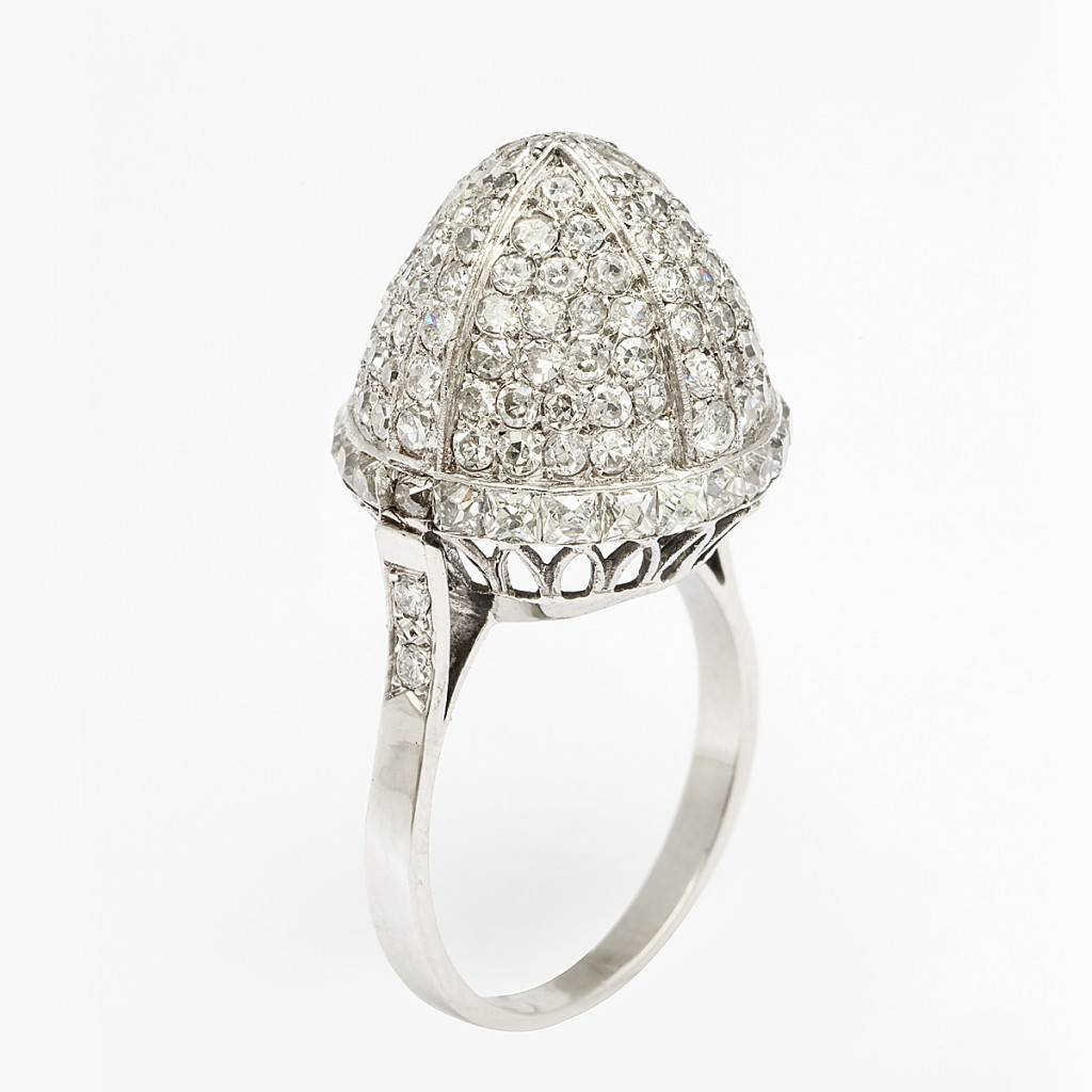 1920s Pavé Diamond Ring
