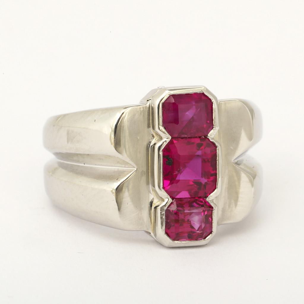 Art Deco Ruby Men's Ring