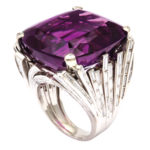 main view, Retro Amethyst and Diamond Cocktail Ring