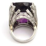 back, Retro Amethyst and Diamond Cocktail Ring