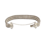 open view, Antique Natural Pearl and Diamond Bow Bracelet
