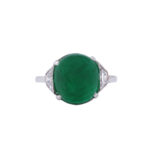 top view, Edwardian Emerald and Diamond Ring