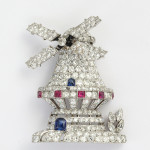 1930s Diamond Windmill Brooch