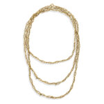 other view, Antique Gold Chain Necklace