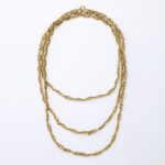 wrapped around, 18k gold chain necklace