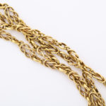 detail, 18k gold chain necklace