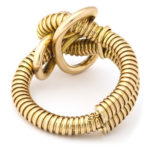 back view, Retro 18k Gold Gas Pipe Bracelet
