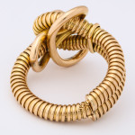 Vintage 18k Gold Gas Pipe Bracelet