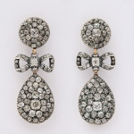 Antique Old Mine Diamond Drop Earrings