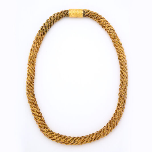 Victorian Woven Pinchbeck Necklace
