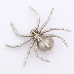 Bottom view, Contemporary Diamond and Pearl Spider Brooch