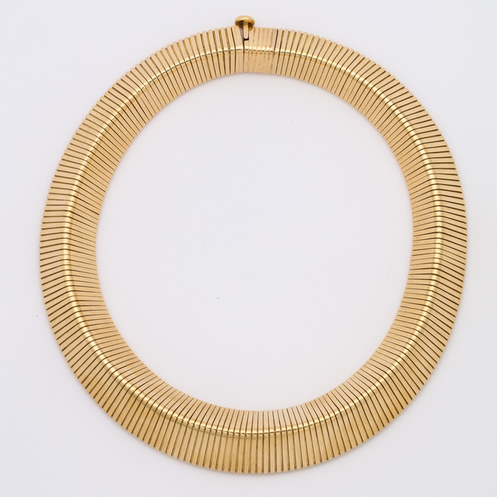 Retro Cartier Gold Gaspipe Necklace