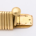 Detail view, Retro Cartier Gold Gaspipe Necklace