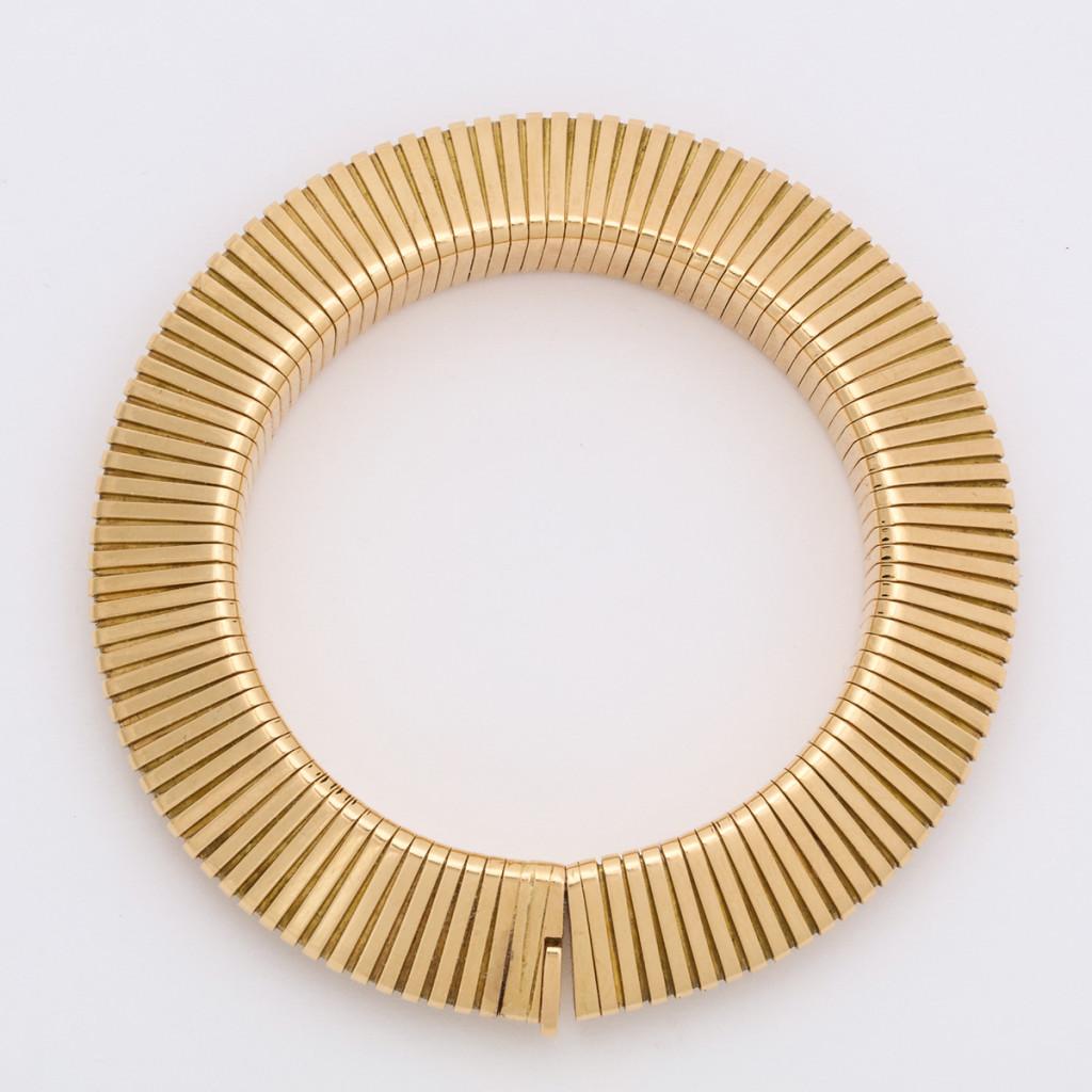 Retro Cartier Gold Gaspipe Bracelet