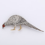 Victorian Diamond Pheasant Brooch