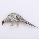 Victorian Diamond Pheasant Brooch