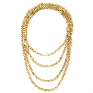 main view, Antique Two-color Gold Chain Necklace