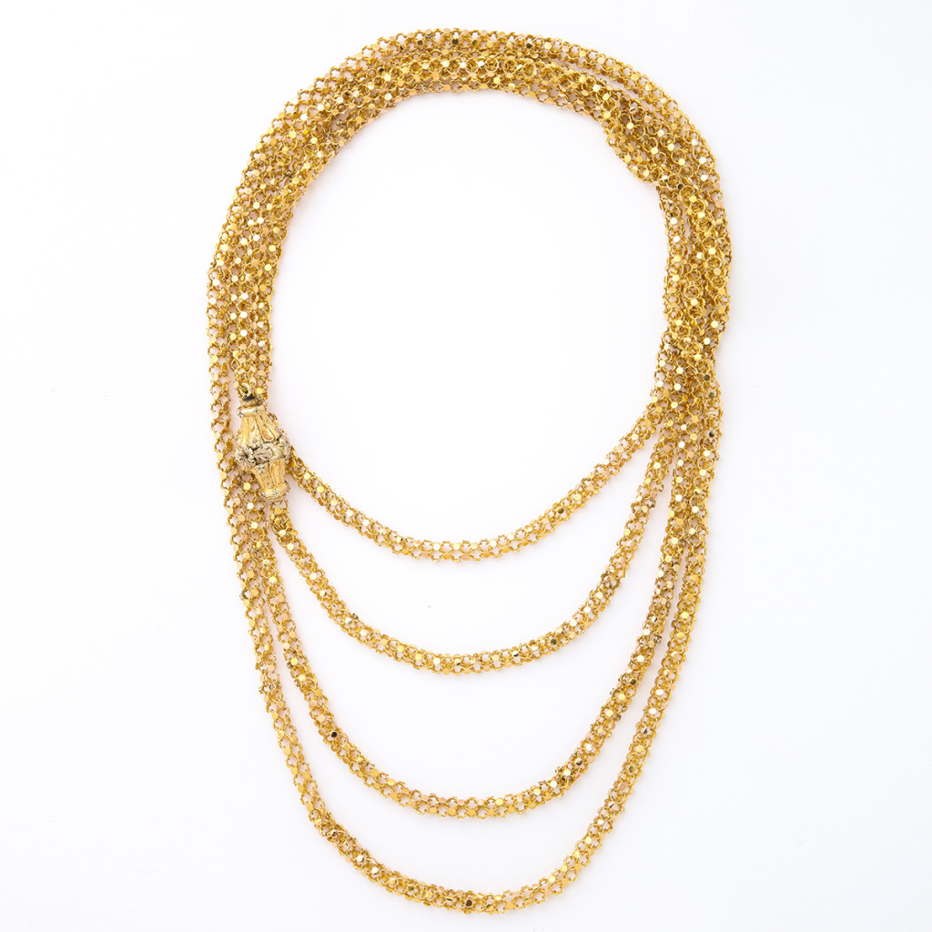 Antique Two-color Gold Chain Necklace