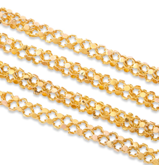 detail, Antique Two-color Gold Chain Necklace