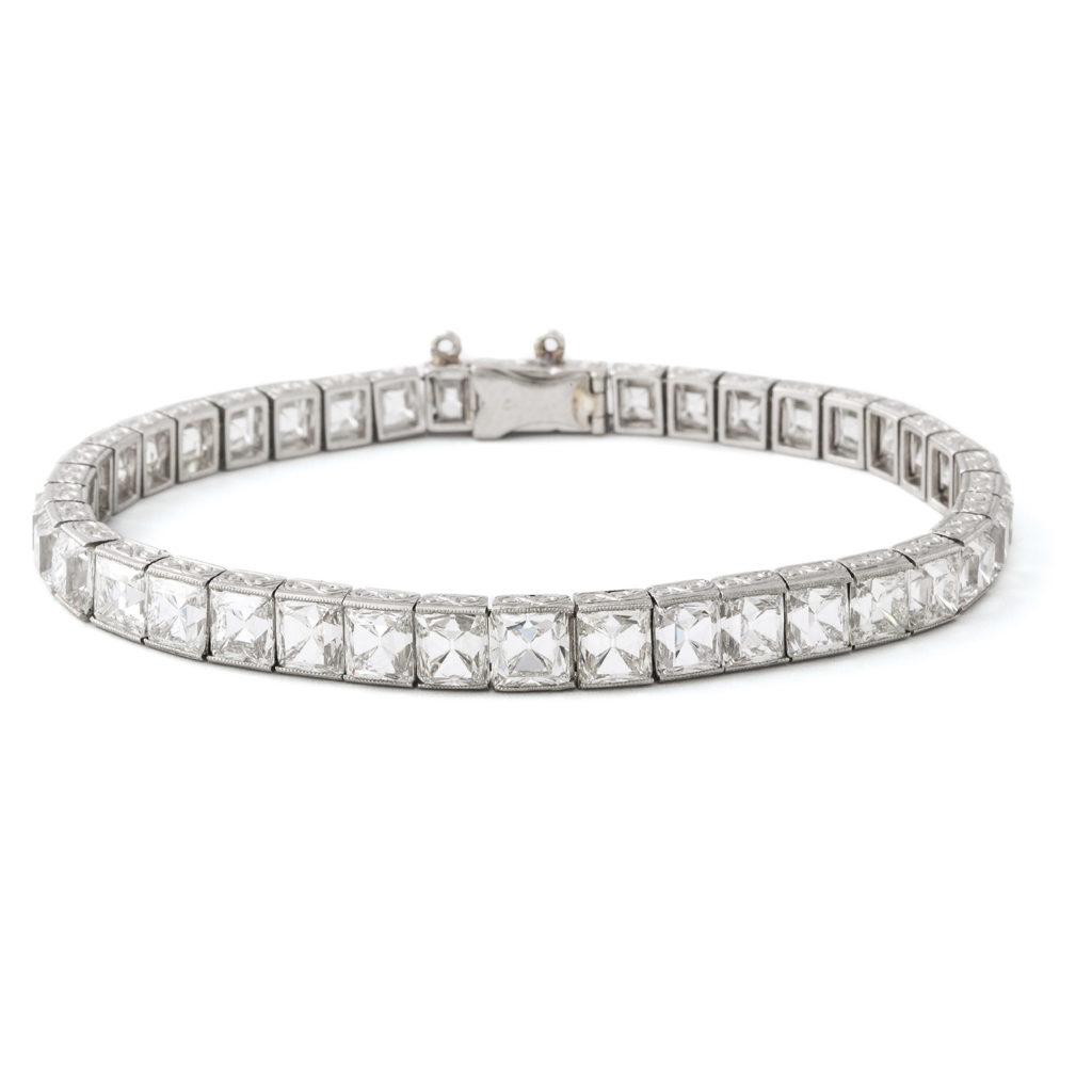 main view, Antique French-cut Diamond Bracelet by Tiffany & Co.
