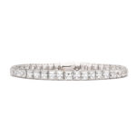 main view, Antique French-cut Diamond Bracelet by Tiffany & Co.