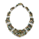 necklace view, Arts and Crafts Dorrie Nossiter Necklace and Earrings