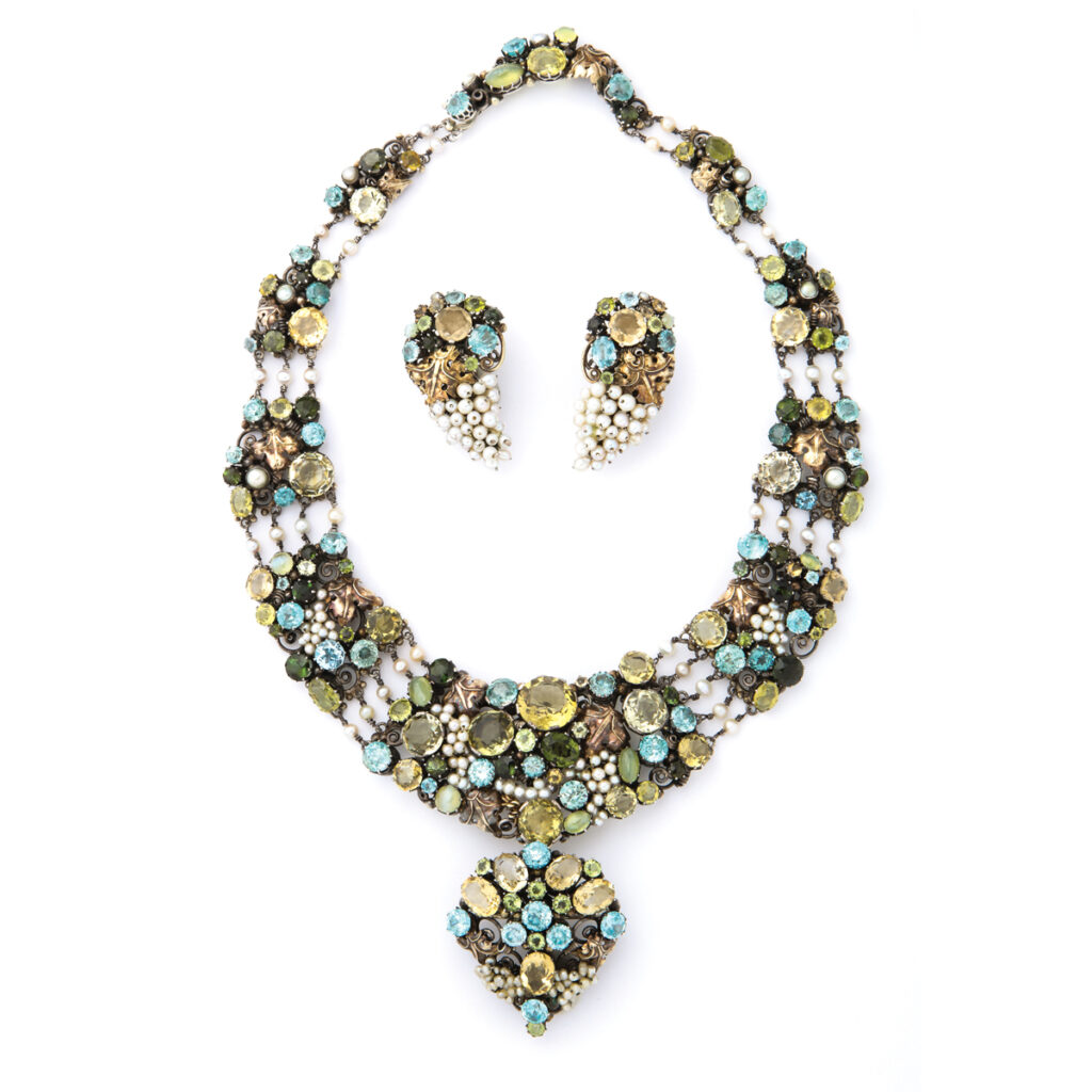 main view, Arts and Crafts Dorrie Nossiter Necklace and Earrings