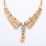 close up, 1950s Gold and Diamond Collar Necklace