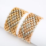 other view, Pair of 1950s Two-Color Gold Bracelets